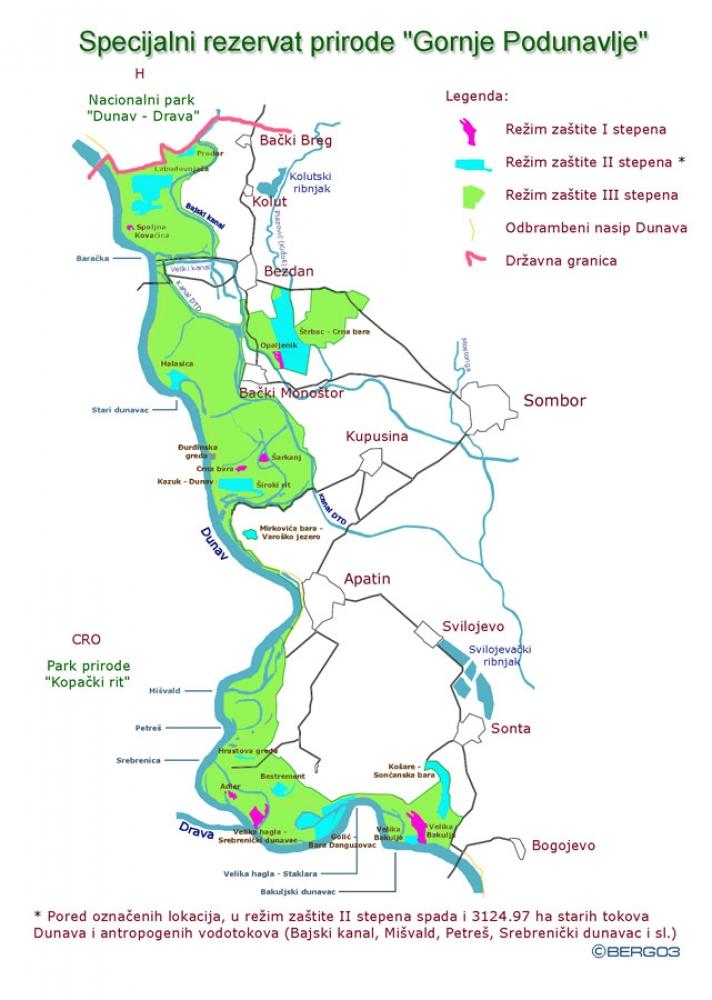 Mapa Gornjeg Podunavlja